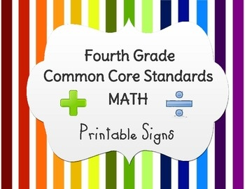 It is a graphic of Dramatic 4th Grade Common Core Math Standards Printable