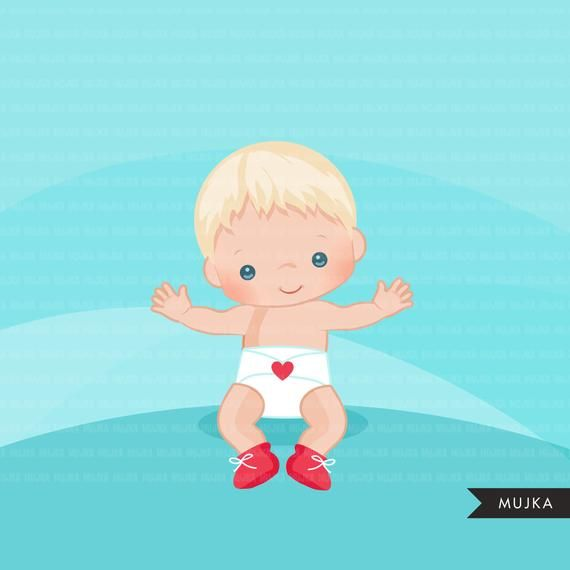 Valentine S Day Baby Clipart Cute Baby Boys With Heart Etsy In 2021 Valentines Day Baby Clip Art Valentine Baby