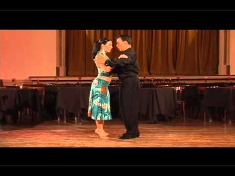 Argentine Tango Step Ocho Cortado in a Baldosa and Variations Georgina y...