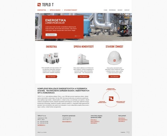 Microsite for local energy provider in Teplice - Czech