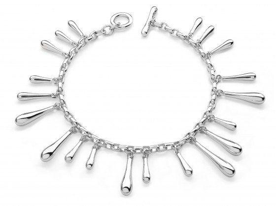 LucyQ Sterling Silver Multi Drip Bracelet