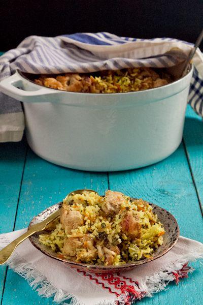 biryani rice with chicken and cauliflower