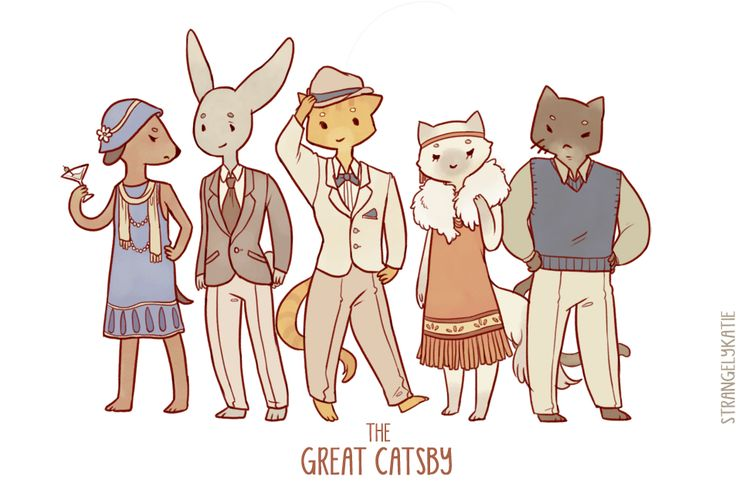 The Great Gatsby cats xD