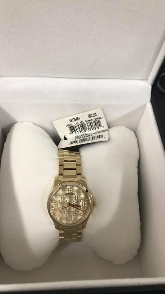 a0ed55c1422a5e Gucci G-Timeless Gold-Tone Stainless Steel Bracelet Women s Watch YA126461