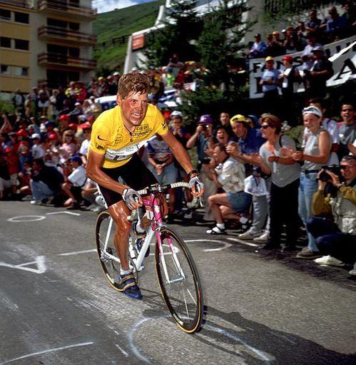 Jan Ullrich in yellow.