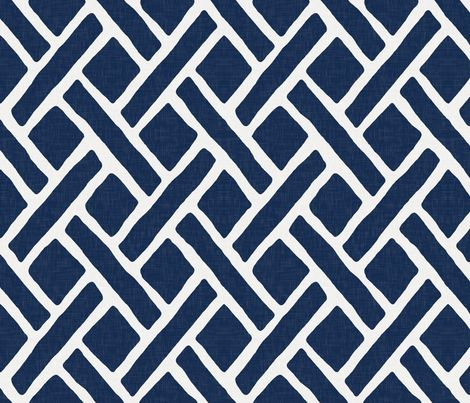 Savannah // Navy fabric by willowlanetextiles on Spoonflower - custom fabric