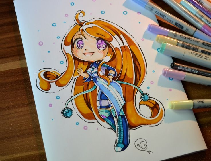 Chibi OC Girl by Lighane