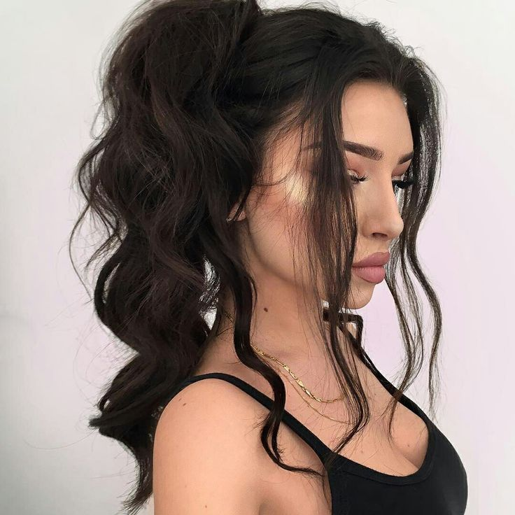 hair styles for with wavy hair 1000 ideas about curly hair ponytail on hair 7007
