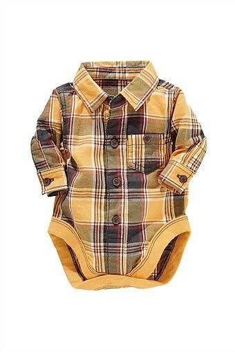 Baby Tops Online | Shirts, Blouses & Sweaters - Next Check Shirt Bodysuit - EziBuy Australia
