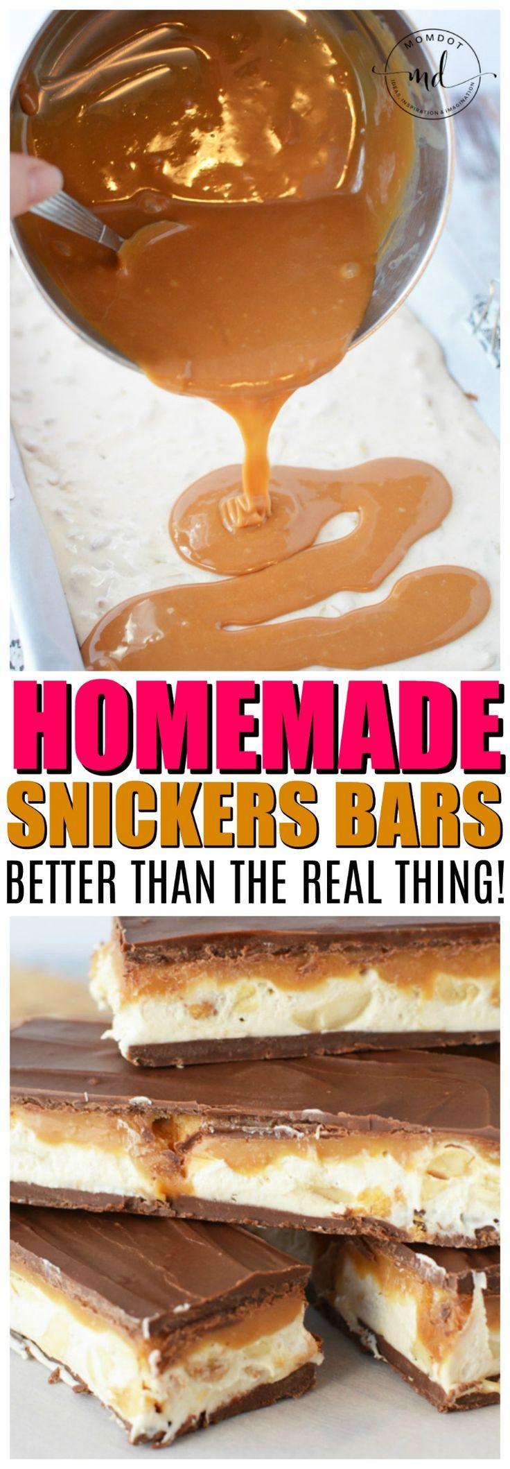 Homemade Snickers Bars Recipe, Decadent and Rich homemade candy bar recipe #snickers #candy #candybar #homemade  #dessert  #recipe #recipeoftheday