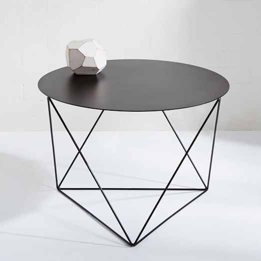 Eric Trine Octahedron Side Table - Black | west elm