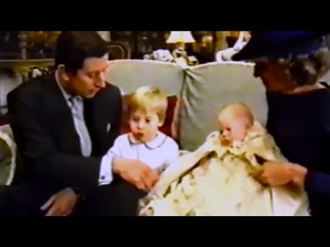 Princess Diana & Prince Charles with William & Harry on their Birth & Ch...