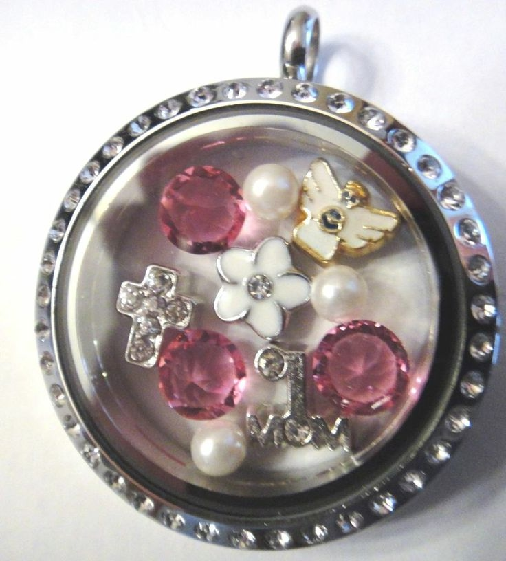 MOM Floating Charm Lot for Lockets Angel Cross Flower Mother's Day