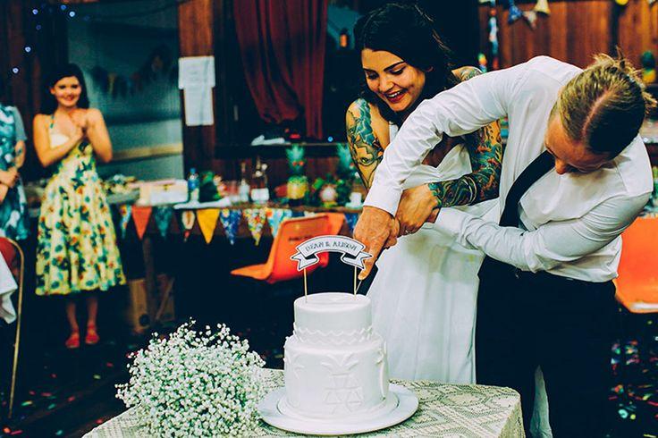 HOORAY! magazine - Alison + Dean #wedding #cake #bride #groom