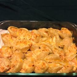 Buffalo Chicken Stuffed Shells Allrecipes.com @karissaclay