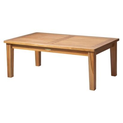 smith hawken brooks island wood patio coffee table. Black Bedroom Furniture Sets. Home Design Ideas