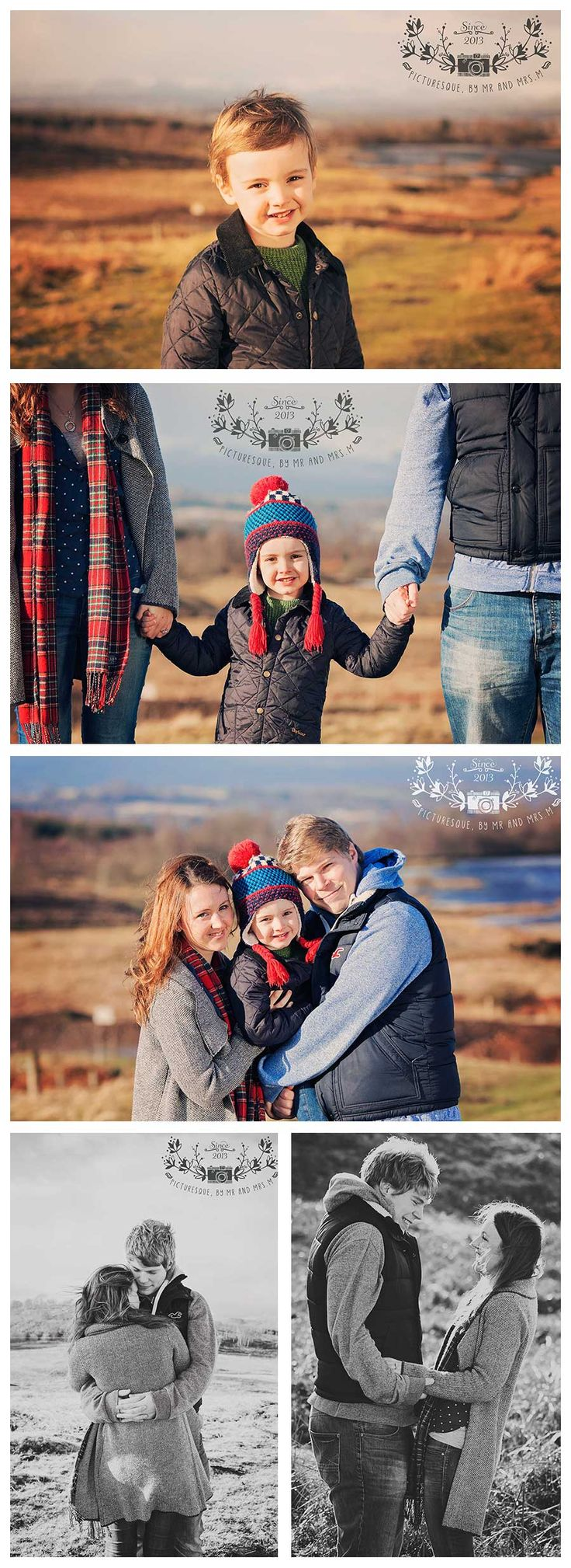 Family pre-wedding shoot on Dumyat, Stirling.  The wedding is at Cameron House, Loch Lomond next month.  This was a very bright but windy, freezing day!!  www.picturesquebymrandmrsm.com