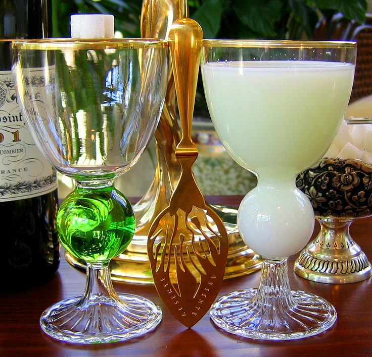 Bubble Reservoir Absinthe Glass And Spoon Set