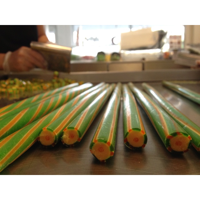 Melon candy canes