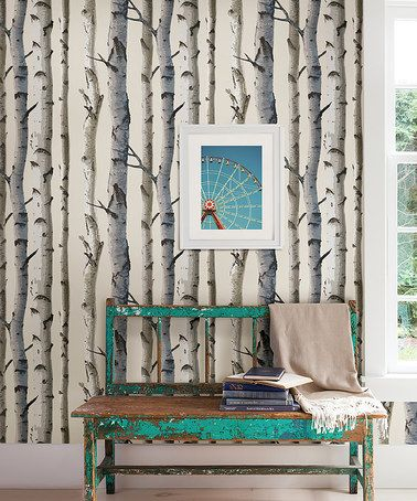Another great find on #zulily! Irvin Birch Tree Wallpaper #zulilyfinds