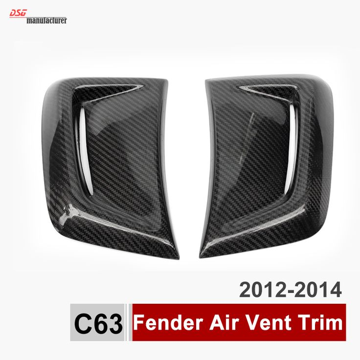 C63 Carbon Fiber Fender Air Vent Trim Side Air Fender Vent Grill For Mercedes C Class W204 C63 2012 2013 2014 Bumper