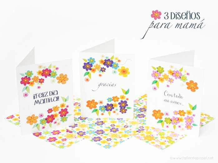 Celebrando con Creatividad! Tarjetas para el Día de la Madre. 3 Diseños de tarjetas para imprimir y regalar.