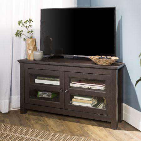 Walker Edison Black Corner Tv Stand For Tvs Up To 48 Inch Multiple