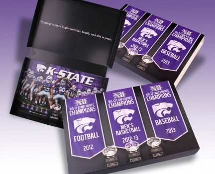 Kansas State University Ticket Box - a creative packaging solution produced by Cedar Packaging