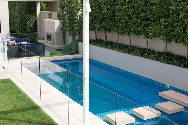 pool & retaining wall