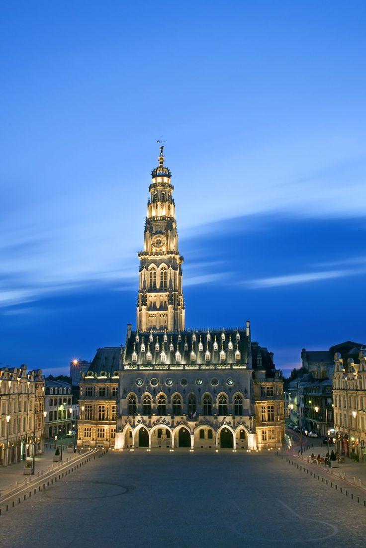 Arras at night, Pas-de-Calais, France ( by Jonathan on 500px )