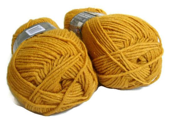 Mustard yellow yarn Wool yarn knitting yarn by Yarnshopping