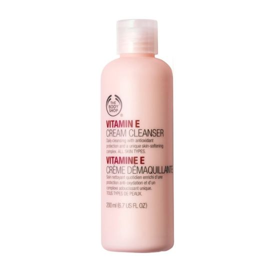 Vitamin E Cream Cleanser from Body Shop. For normal and dry skin. Moisturize ans softens your skin.