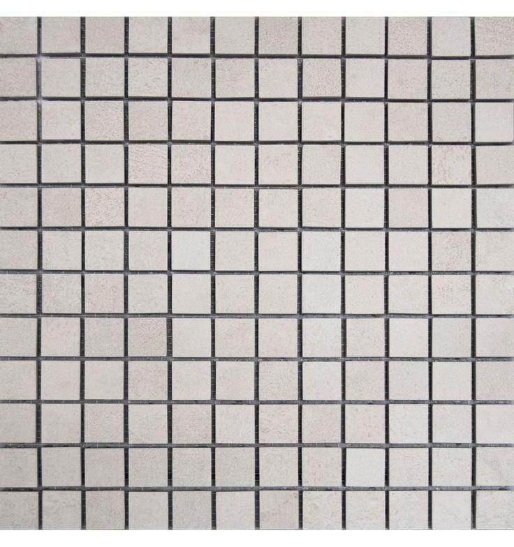 Mosaik - Kakelmonster | Nätmonterat Evoke Vit Halkskydd 30x30