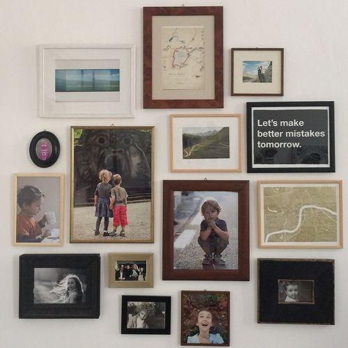 Come creare un gallery wall - tutorial di RICORDI DI FAMIGLIA - servizio che vi aiuta a creare fotolibri con le vostre fotografie digitali mai stampate