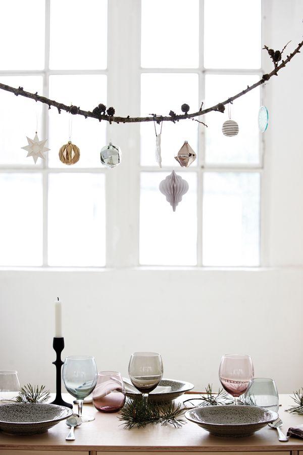 modern christmas decorations Cubic golden metallic ornaments - House doctor DK