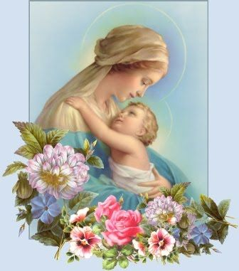 Mother Mary caring child Jesus in her lap Beautiful Christian photo download free religious clip art pictures