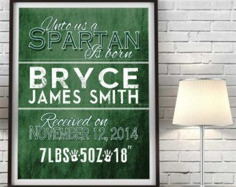 26 best calebs baby shower images on pinterest cowboy party michigan state spartans msu birth announcement personalized print poster canvas nursery decor baby shower kids room gift wall art all sizes negle Choice Image