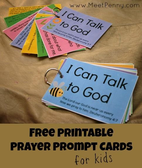 free printable prayer cards to teach children to pray