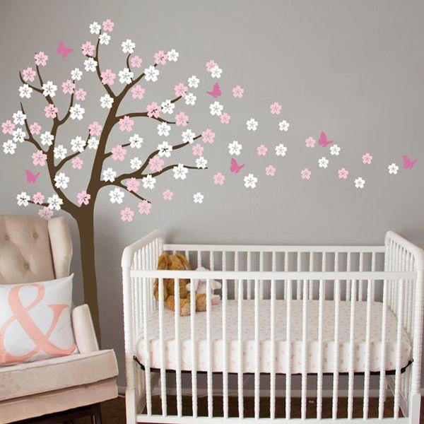 pas cher oversize 92x70in soufflage cherry blossom vinyle With déco chambre bébé pas cher avec acheter fleurs gros