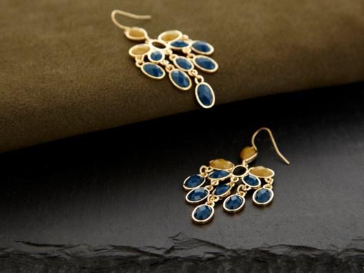 Cascata Earrings by Roberta Chiarella: Cascata Earrings, Blue, Chandeliers, Imaginary Closet, Bling Sparkle, I'M, Clothing Cosmetics, Fashion Styl, I D Wear