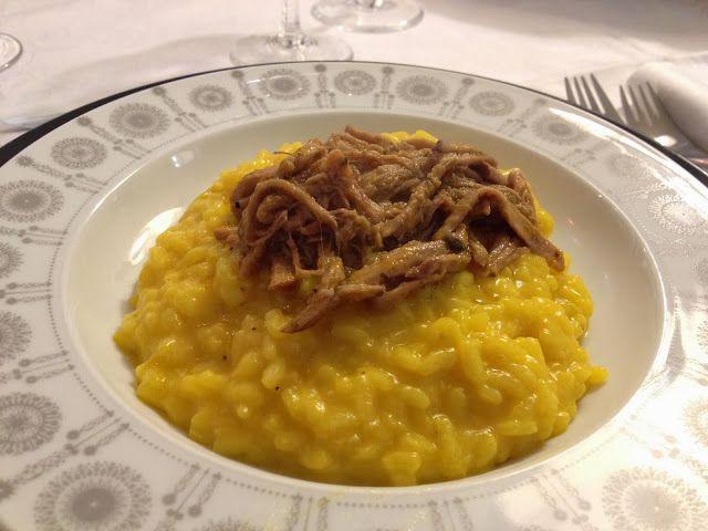 primi piatti - risotto alla milanese con stracotto di vitello