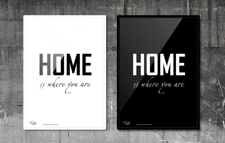 Home is where you are. #RabbitDESIGN #poster