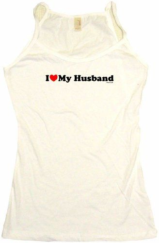I Heart Love My Husband Womens Tee Shirt Large-Tank Top