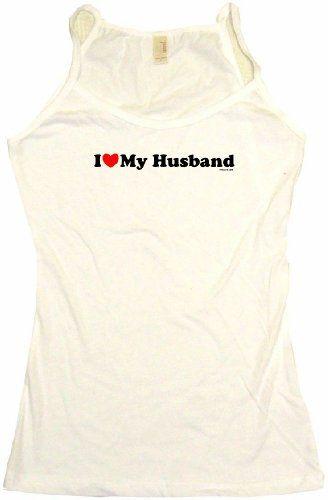 I Heart Love My Husband Womens Tee Shirt Large-Tank Top