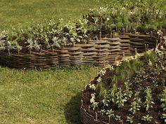 - fläta ett staket av pil eller sälg och få din grönsaksträdgård i lämplig höje -- Weaving a fence of willow or sallow and get your vegetable garden at a suitable height