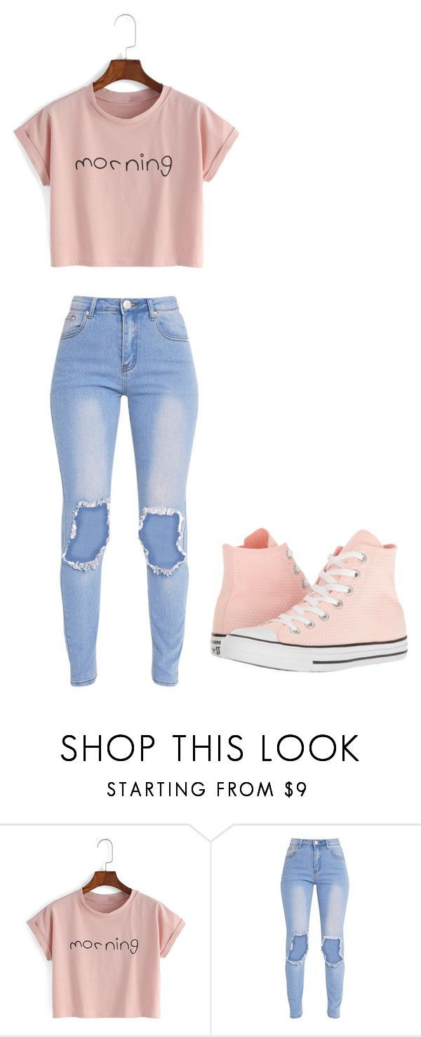 """Untitled #303"" by thenerdyfairy on Polyvore featuring Converse"