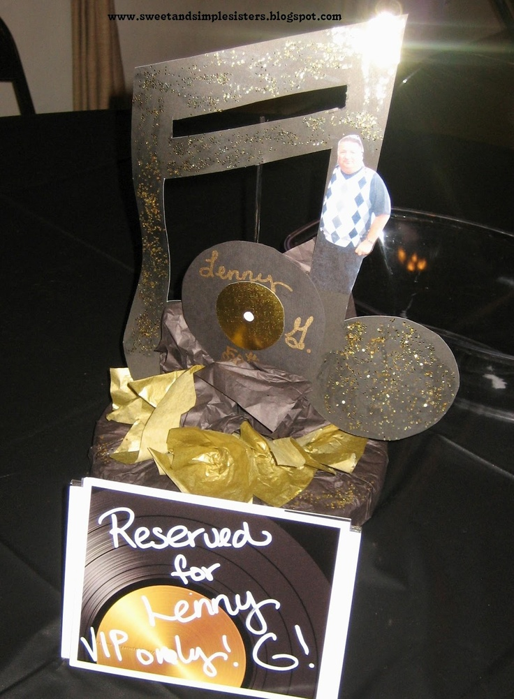 82 best theme party 50th bday images on pinterest 50 for Table decoration 50th birthday