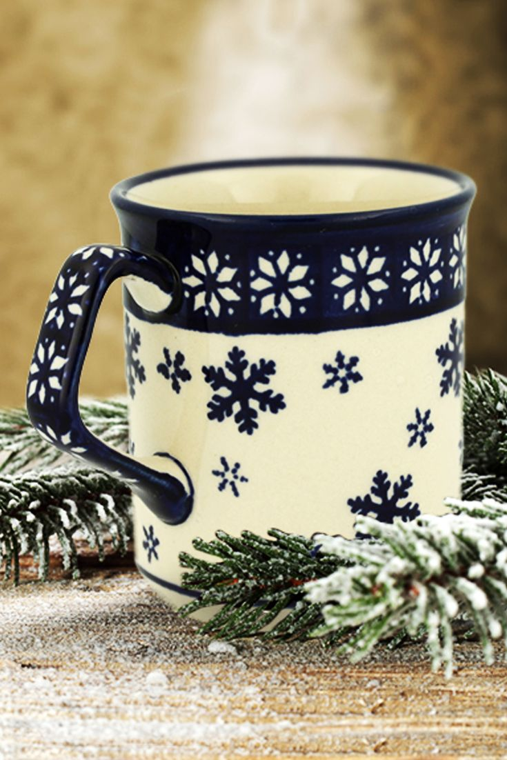 Ceramic mug. Perfect to take delight in favourite tea or coffee.