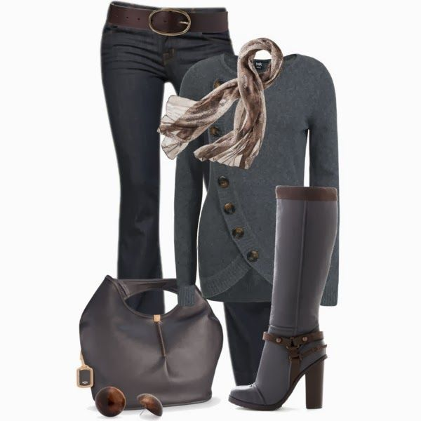 Chic Outfit: Chic Outfit, Sweater, Outfits, Fashion, Style, Clothes, Winter Outfit, Fall Outfit