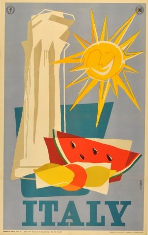 Italy, 1955 - original vintage poster by Belli listed on AntikBar.co.uk